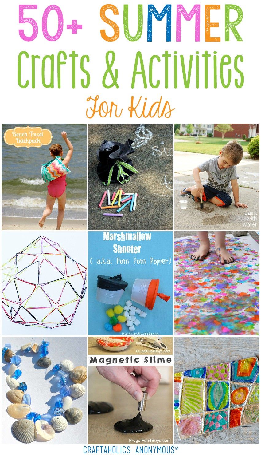50+ Summer Crafts for Kids | Craftaholics Anonymous®