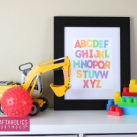 Alphabet Art Free Printable