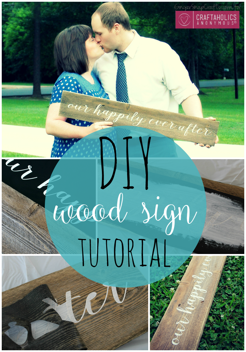 DIY Wood Sign Tutorial GingerSnapCrafts.com