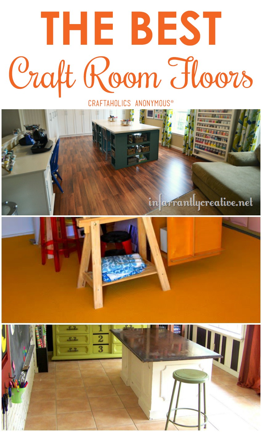 The Best Craft Room Flooring  Craftaholics Anonymous®