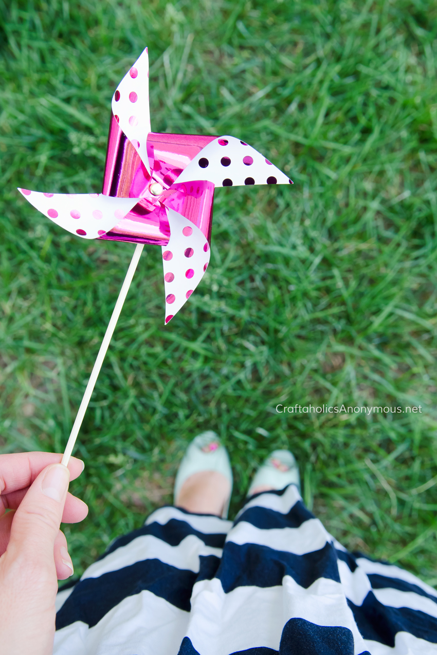 love the foil polka dot pinwheel! Would be super cute in red foil for 4th of July.