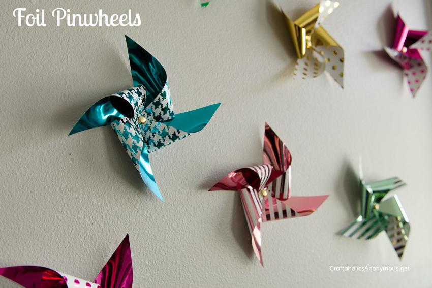 foil pinwheels || love the prints!