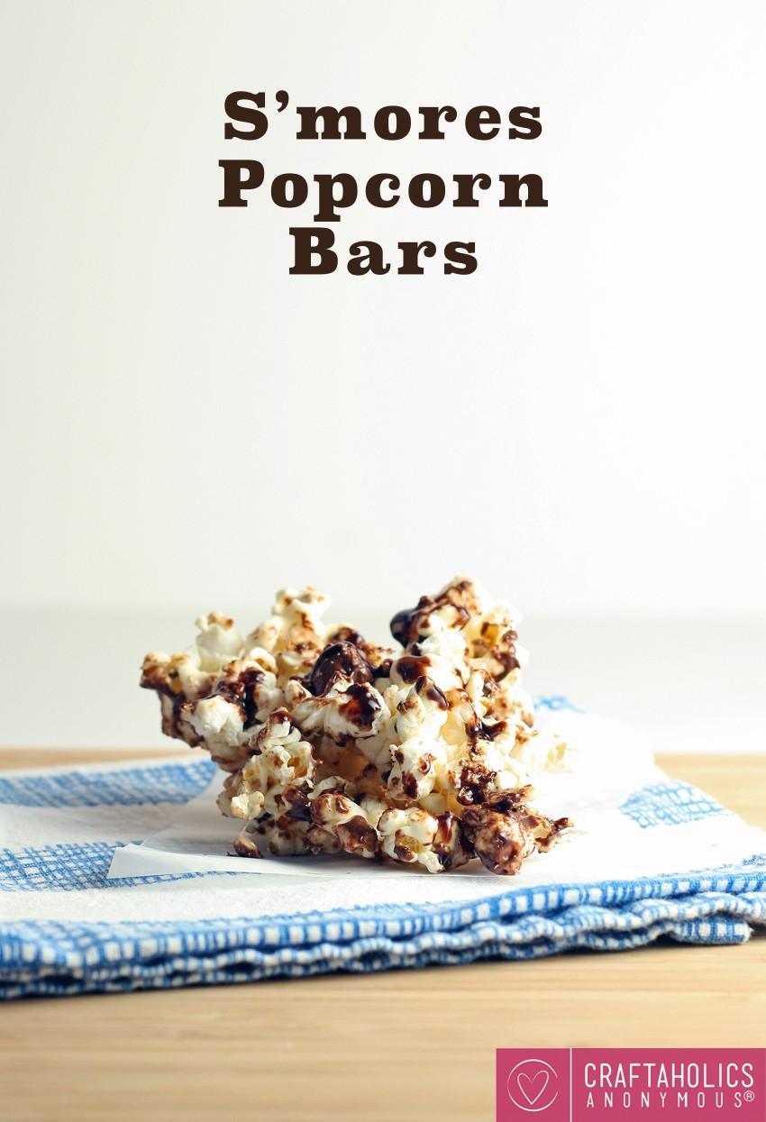 Smores Popcorn Bars