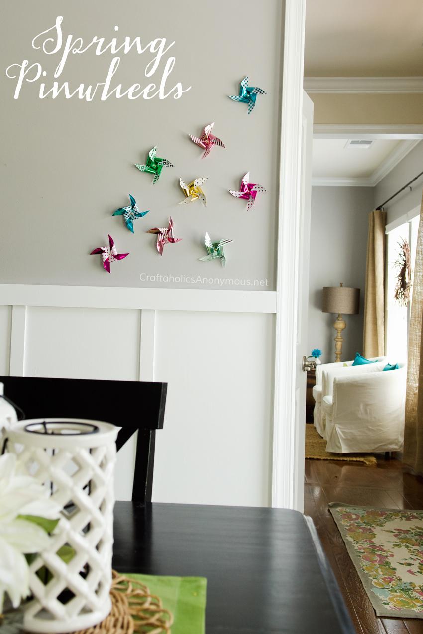 Spring pinwheels || Love these foiled pinwheels!