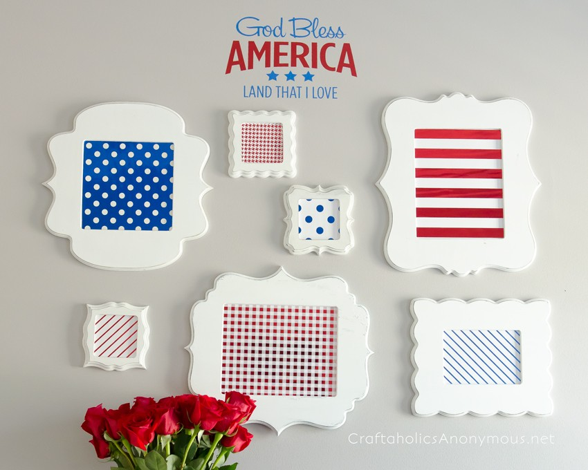 4th of July Gallery Wall || So festive and patriotic! And easy to do too.