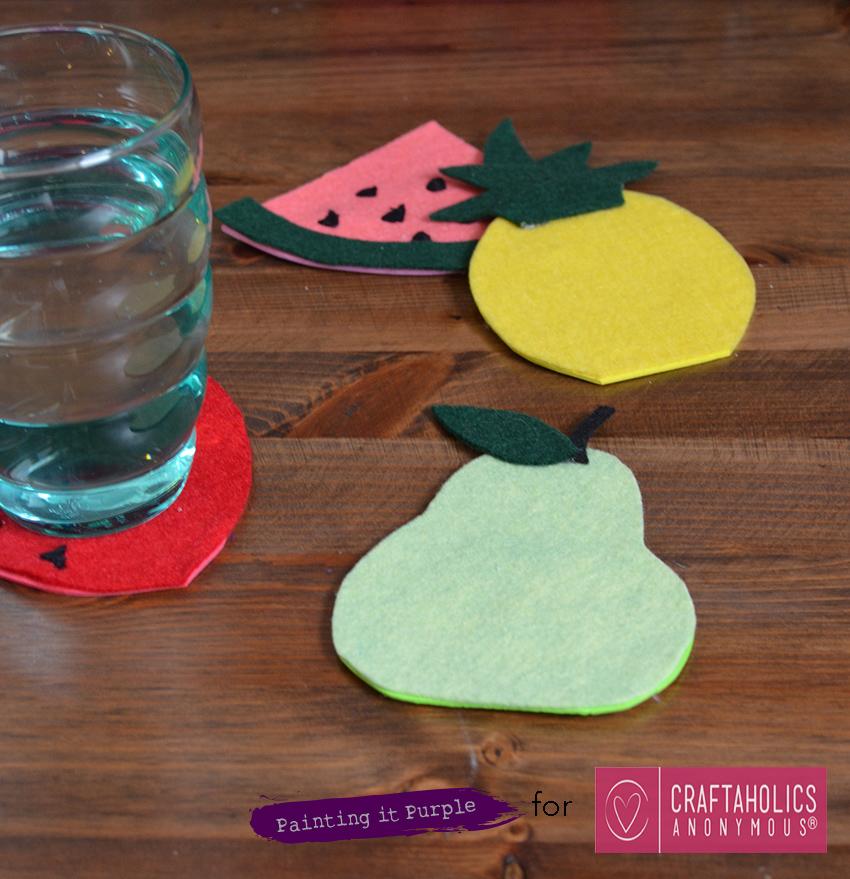 DIY Felt Fruit Coasters
