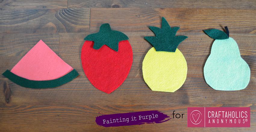 DIY Fruit Coasters Step 1