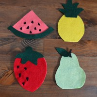 DIY Fruit Coasters Step 2