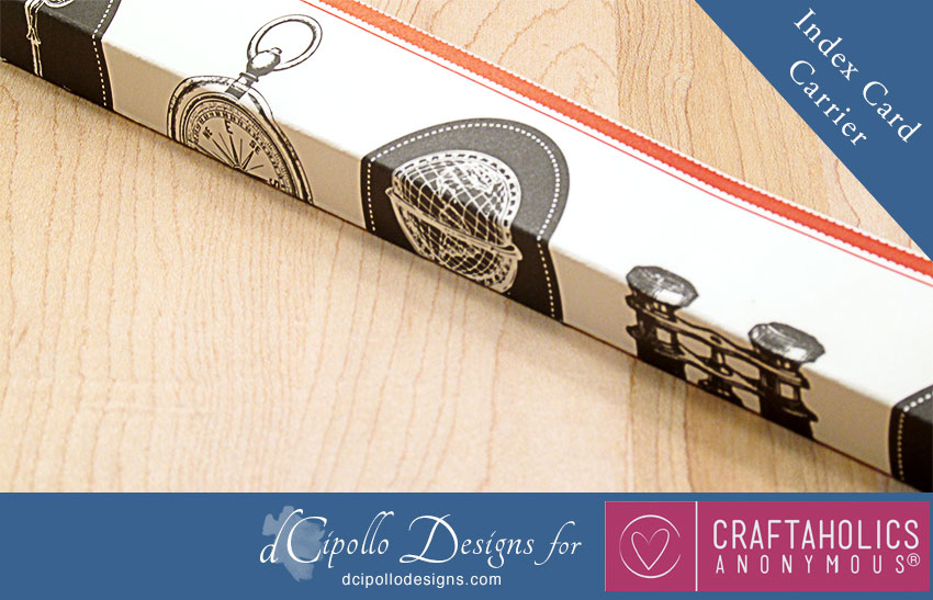 Index Card Carrier SVG Cut File from dCipollo Designs