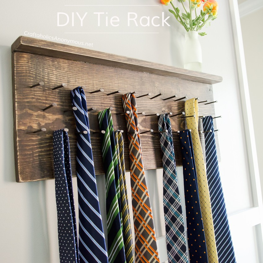 DIY Rustic Tie Rack Tutorial || Awesome handmade Father's Day gift ...