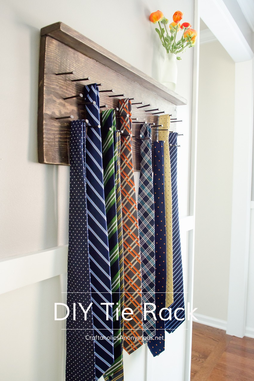 how-to-make-tie-rack-diy