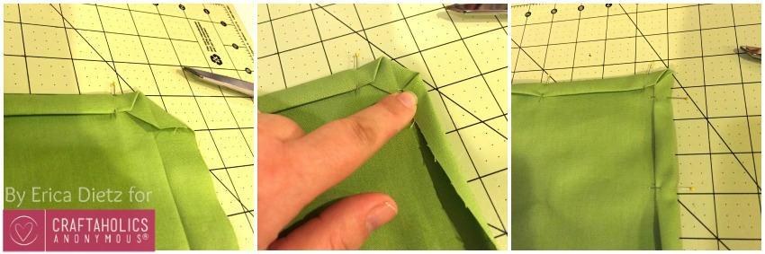 mitered napkin