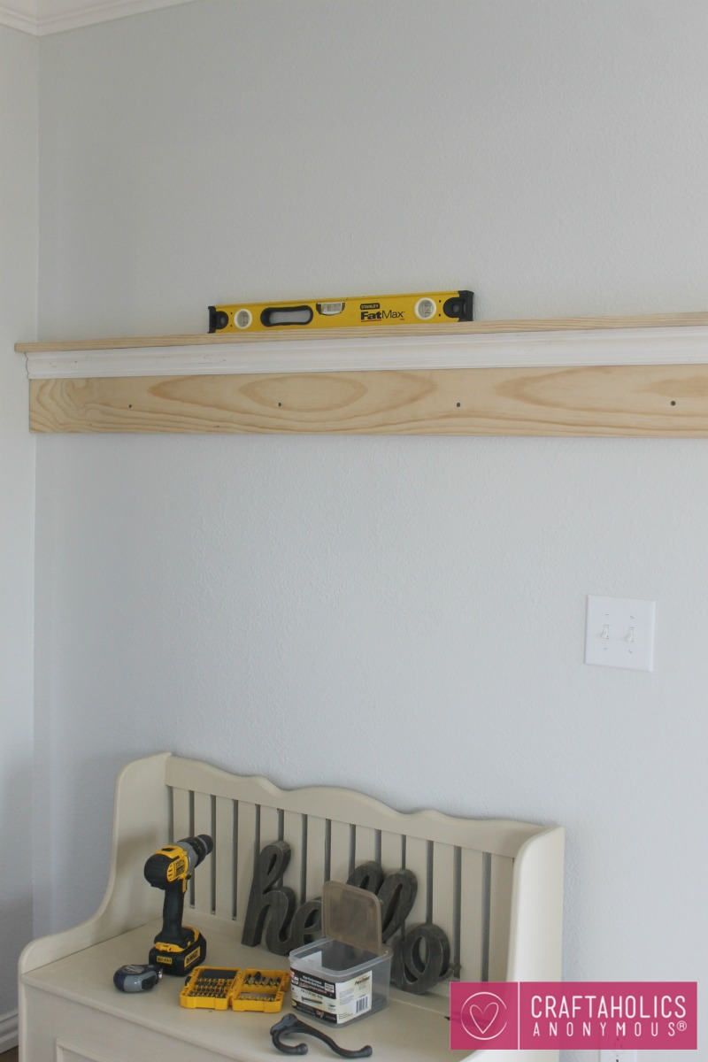 DIY Shelf & Coat Rack | Craftaholics Anonymous®