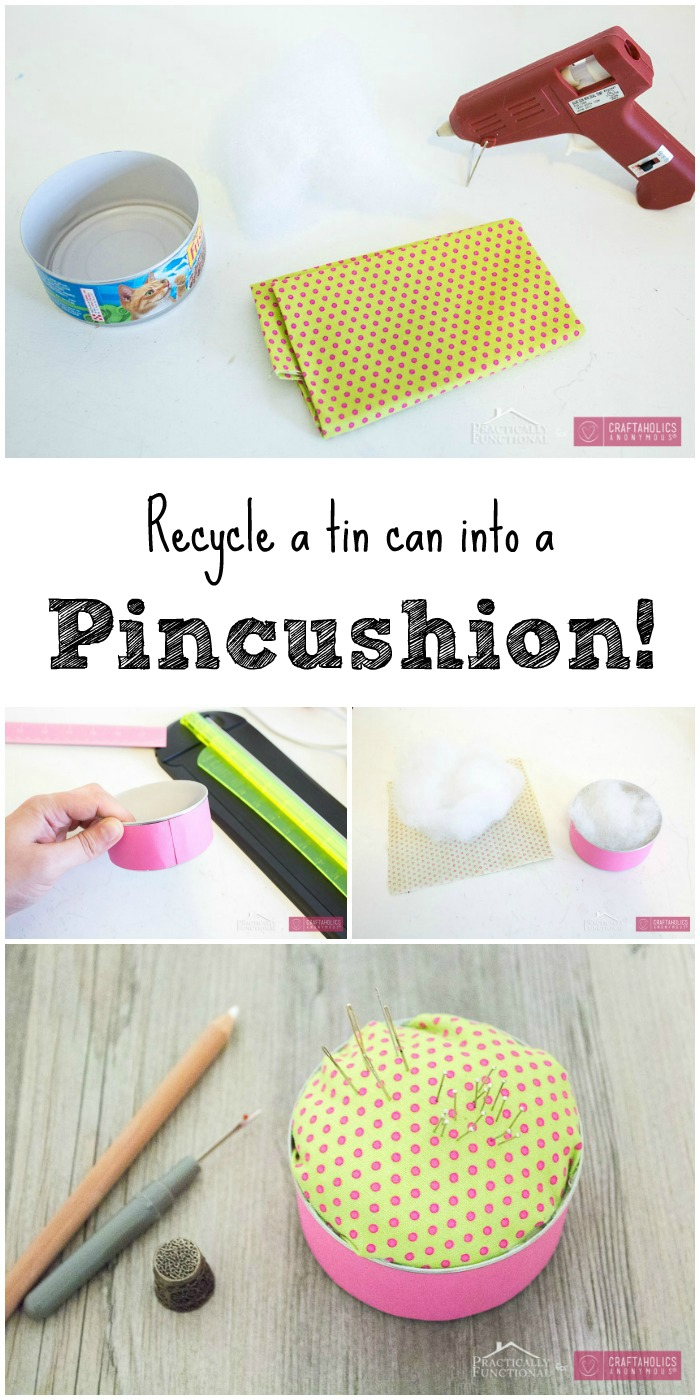 Turn a Tin Can into a Pin Cushion! | Craftaholics Anonymous®
