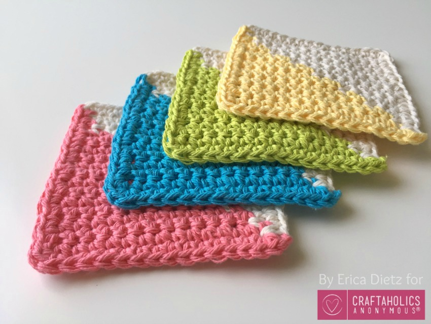 cotton crocheted coasters