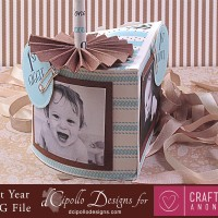 My First Year Photo Cake SVG Cut File by dCipollo Designs
