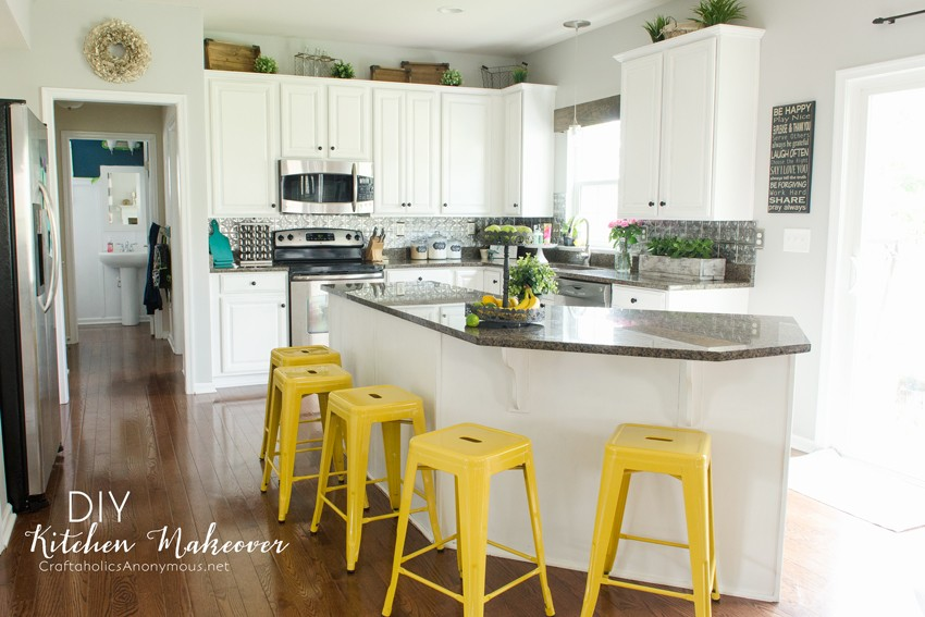 Diy Kitchen Makeover Painted White Cabinets Are Easier Than I Thought