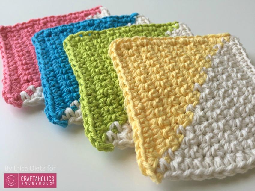 single crochet coasters