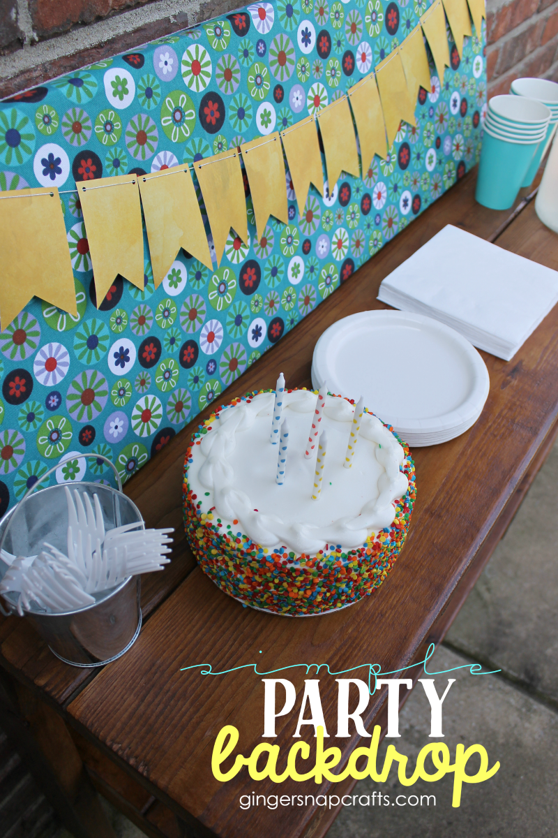 Simple Party Backdrop #gingersnapcrafts #makeitfuncrafts #sponsored