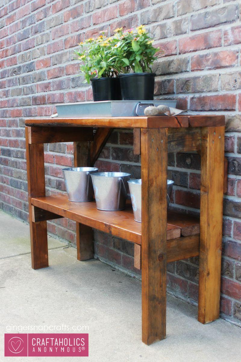 CA garden bench tutorial