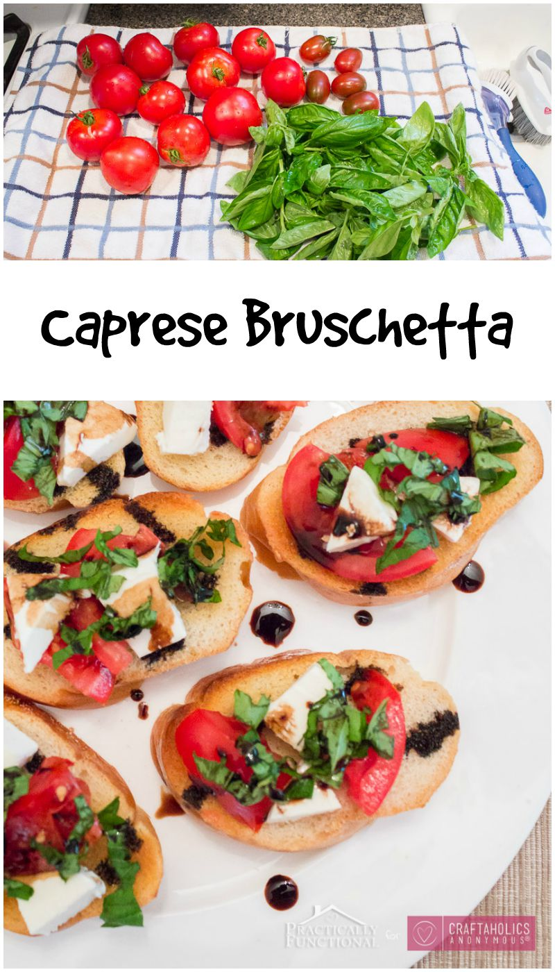 Easy Caprese Bruschetta