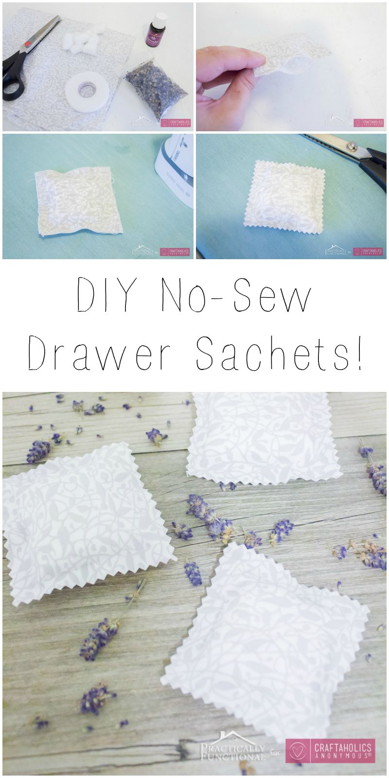 How to make DIY Drawer Sachets