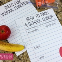 How to Pack a Lunch Printable
