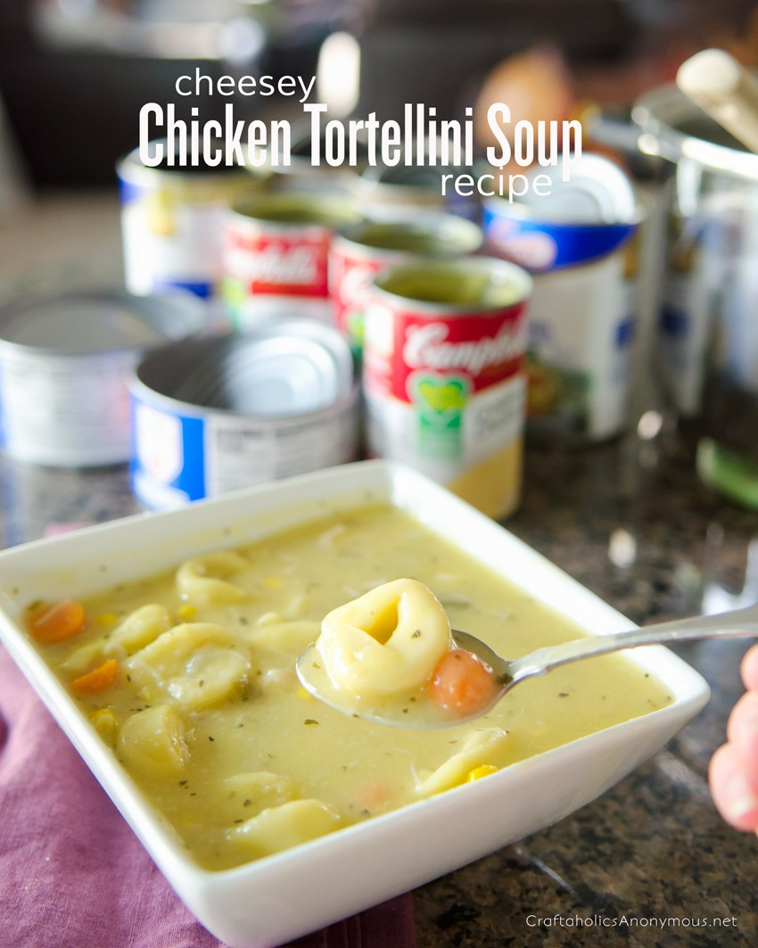 Chicken Tortellini Soup Recipe || Creamy and delicious! Perfect weekend night meal that comes together in 30 mins.