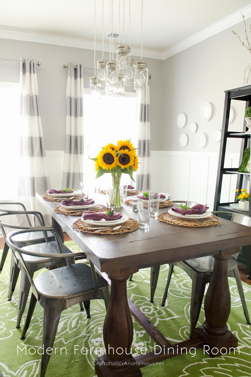 Craftaholics Anonymous® | Modern Farmhouse Fall Dining Room