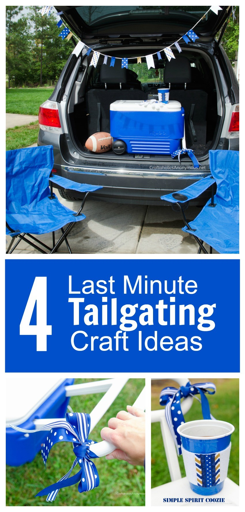 4 Last Minute Tailgating Craft Ideas you can do in minutes!