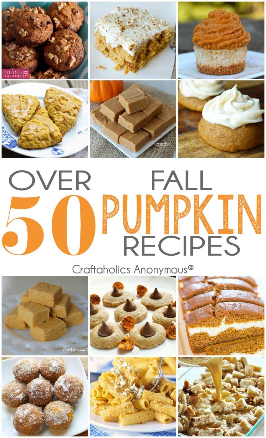 50 Pumpkin Recipes for Fall