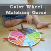 Preschool Color Wheel Matching Game