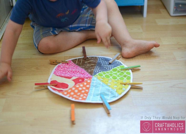 DIY Fabric color wheel tutorial on www.Craftaholicsanonymous.net