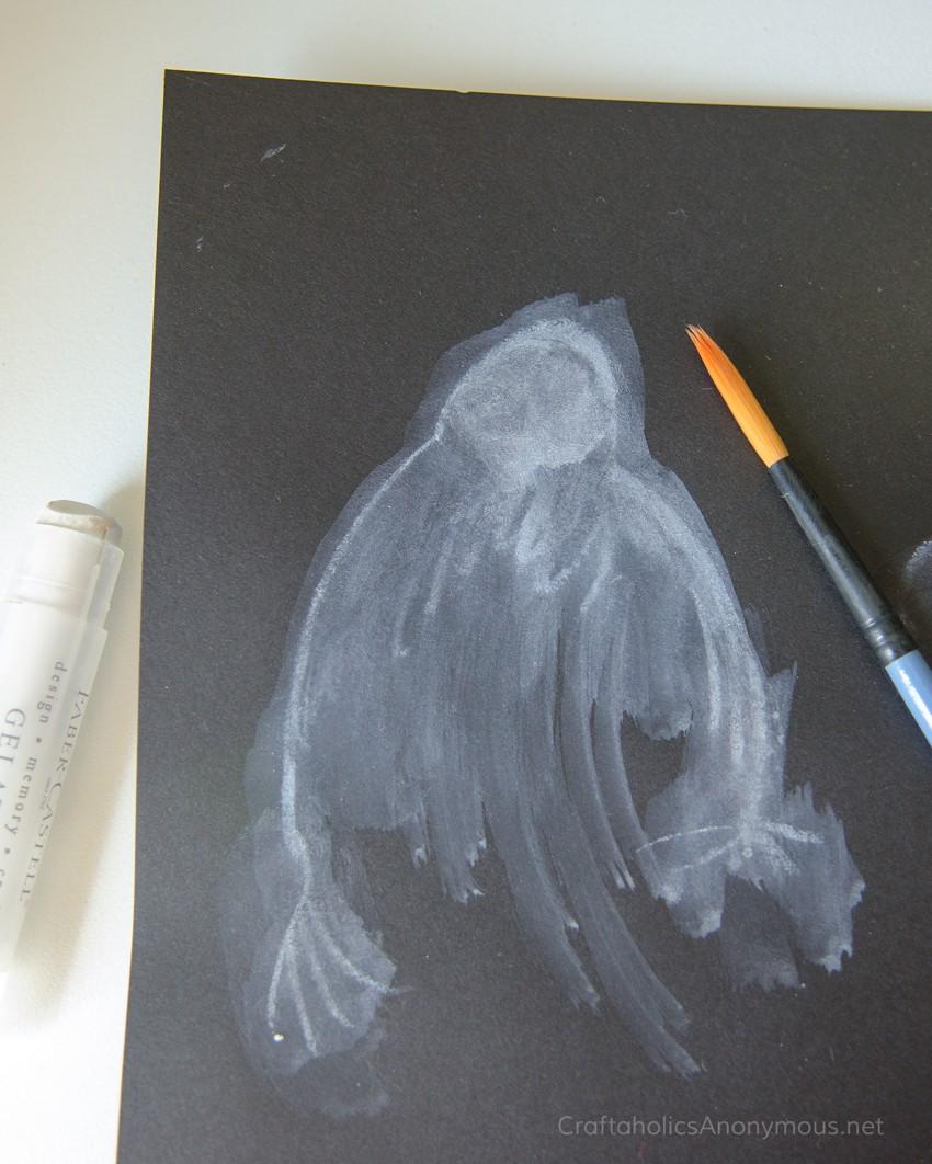Watercolor Halloween Ghoul or Ghost