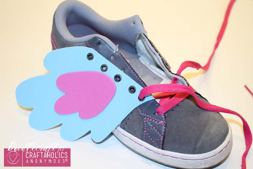 DIY Kid Shoe Wings Tutorial with free pattern on www.Craftaholicsanonymous.net
