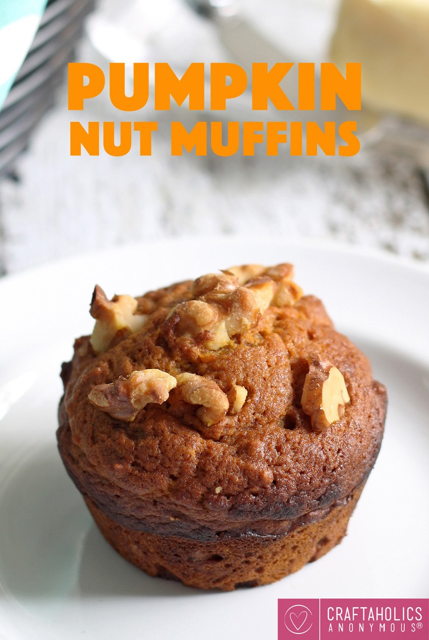 Craftaholics Anonymous® | Pumpkin Nut Muffins