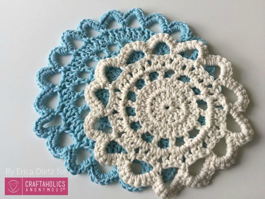 two sizes crochet doily