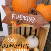 CA easy DIY Pumpkins Sign at GingerSnapCrafts.com