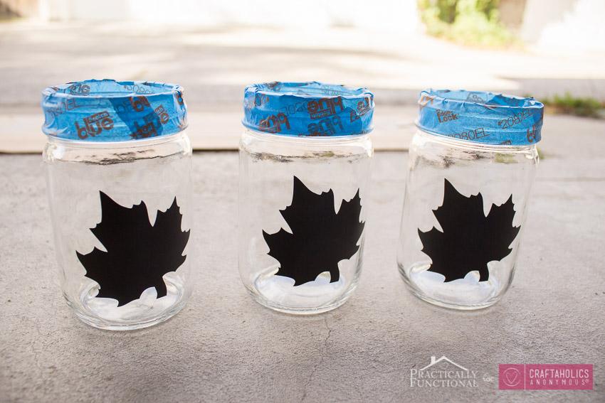 Fall Mason Jar tutorial