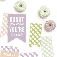 Free Printable Donut Tags @Craftaholics Anonymous