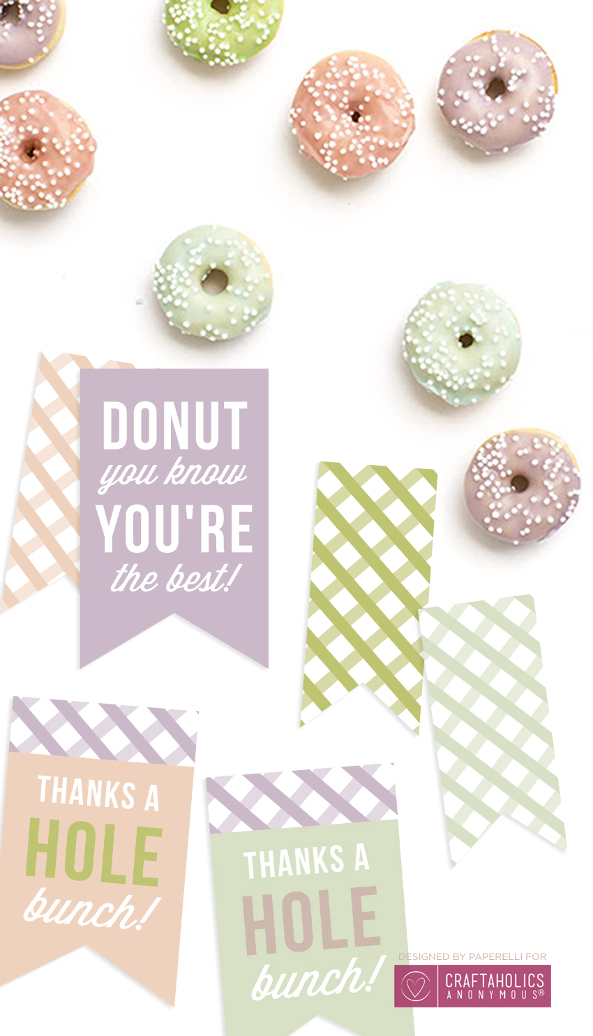 picture about Donut Printable called Craftaholics Anonymous® Free of charge Printable Donut Tags
