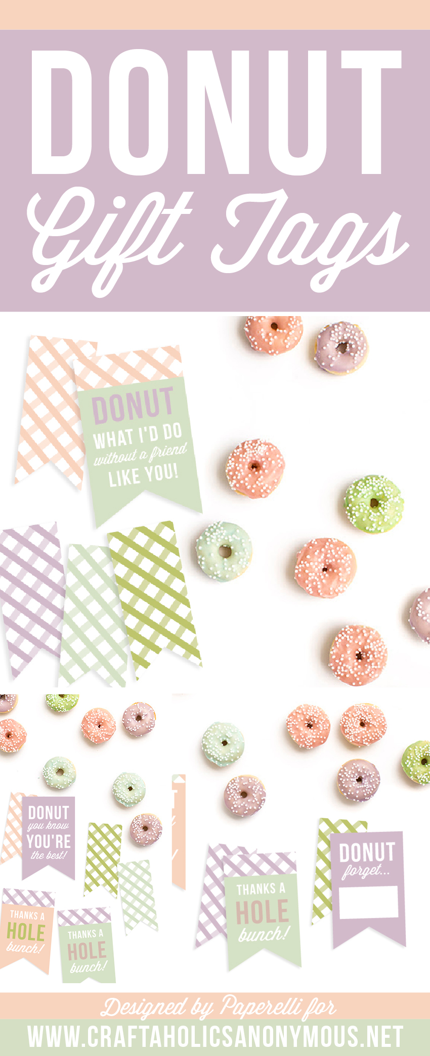 Free Donut Printable Tags on www.craftaholicsanonymous.net