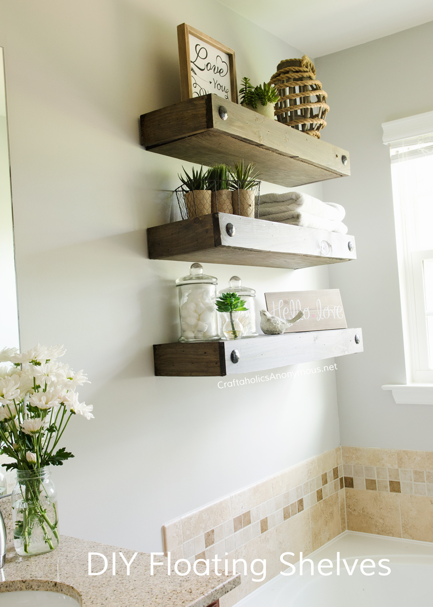 Craftaholics anonymous diy floating shelves - Diy small space storage decoration ...