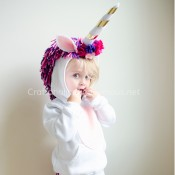 Unicorn costume for Halloween DIY tutorial