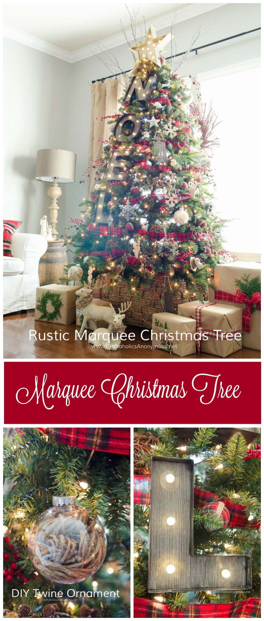 Craftaholics Anonymous 174 Rustic Marquee Christmas Tree