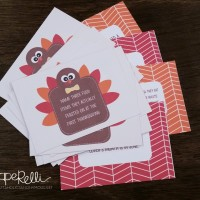 Thanksgiving Table Craft: Turkey Trivia Cards
