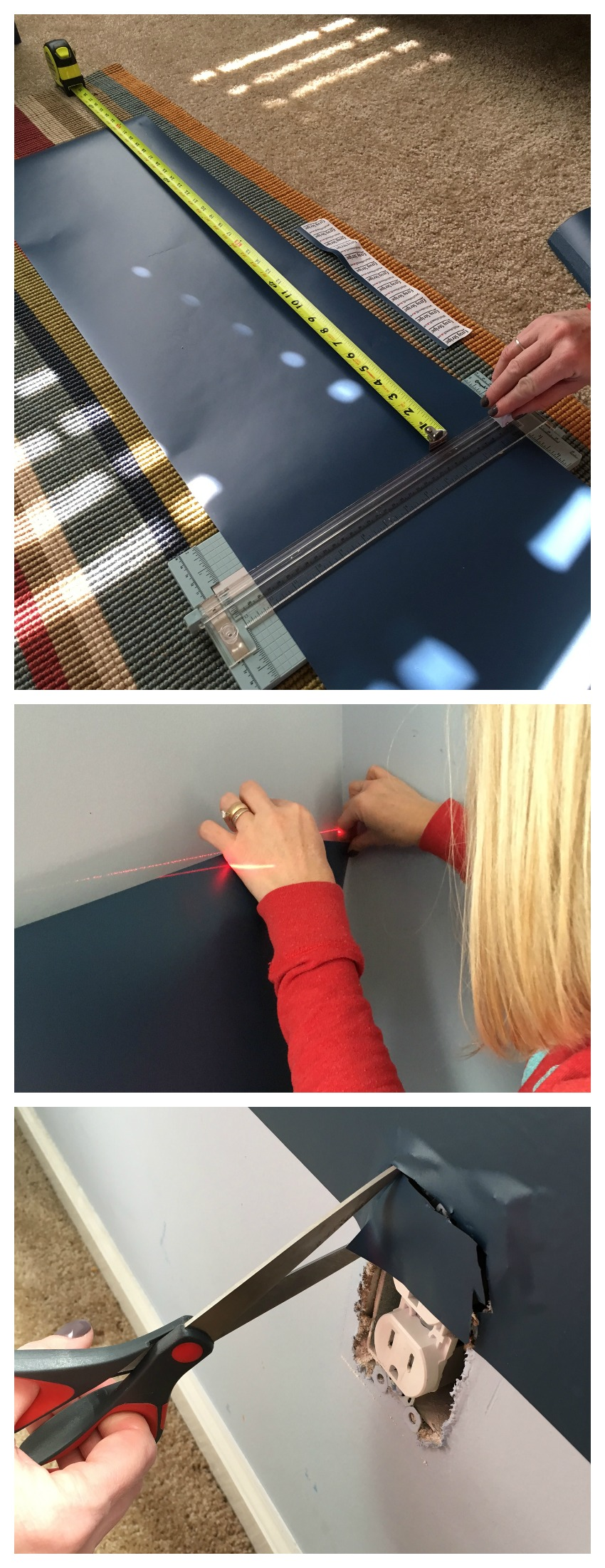 How to add vinyl Stripes on a wall