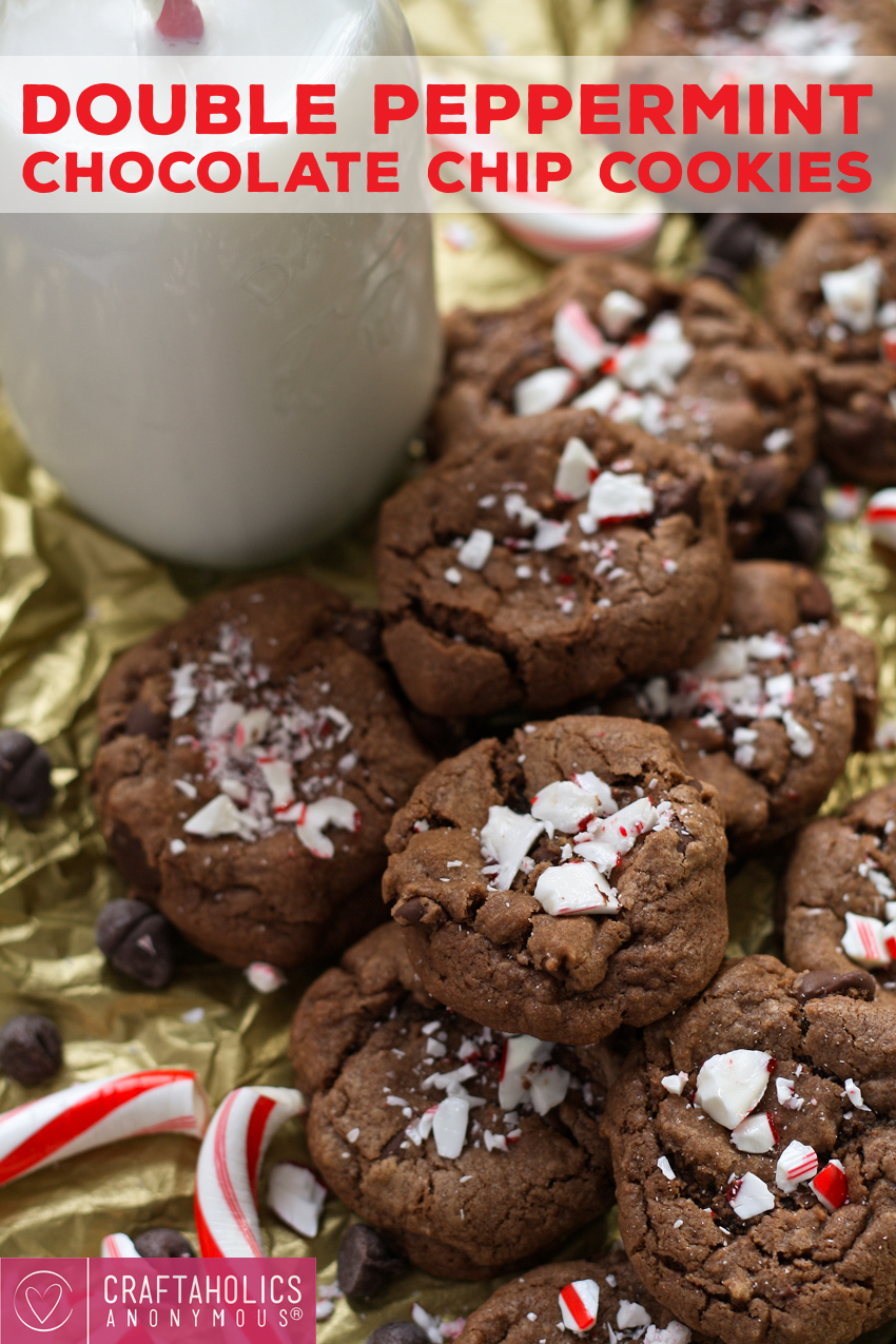 Double Peppermint Chocolate Chip Cookies - perfect for Christmas ...