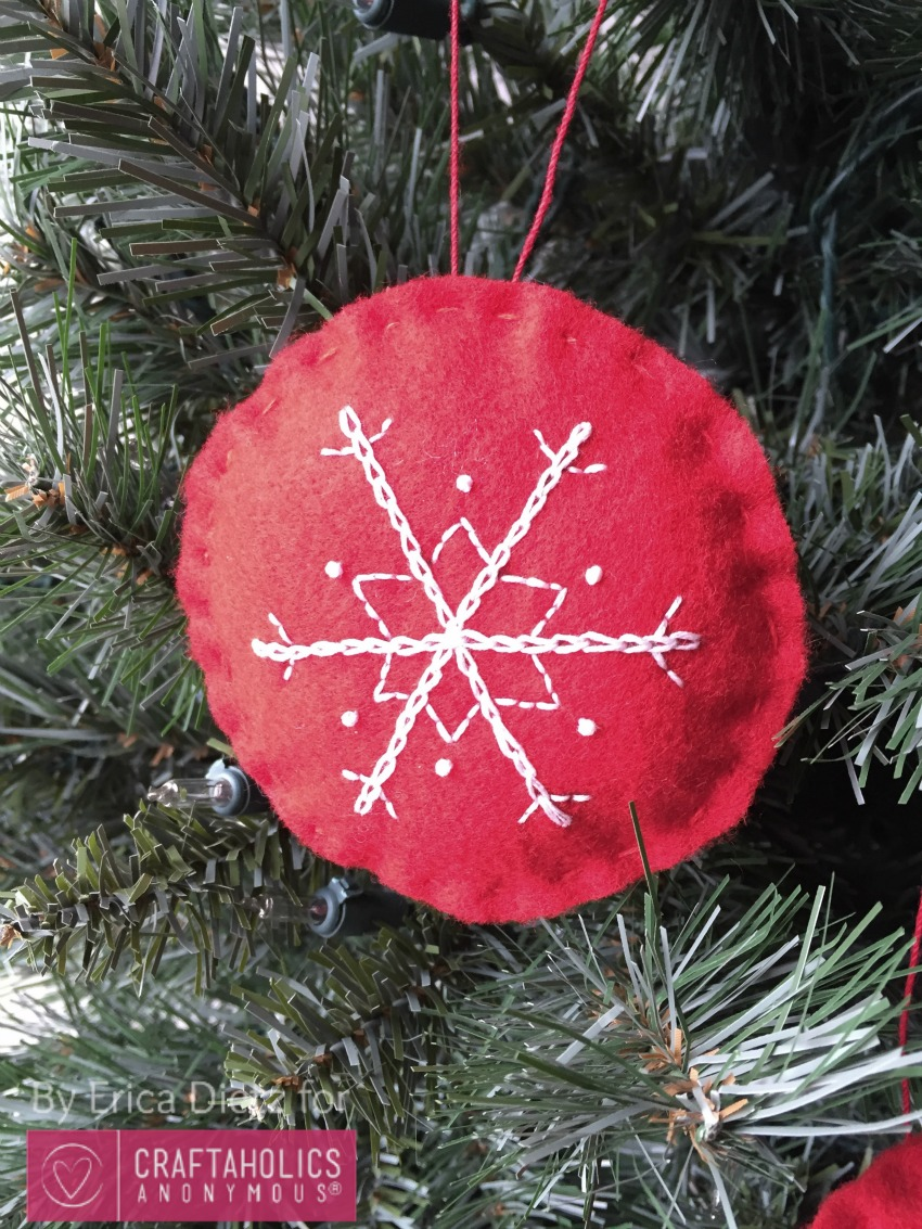 embroidered snowflake