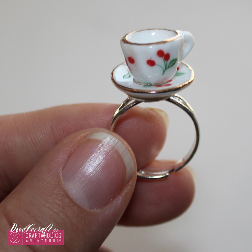 teacup tea set teapot jewelry easy diy heirloom ring necklace handmade gift (10)